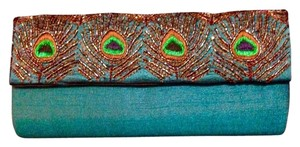 Two's Company Teal Clutch