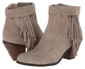 Sam Edelman Fringe Hem Winter Wedge Heel Gray Boots