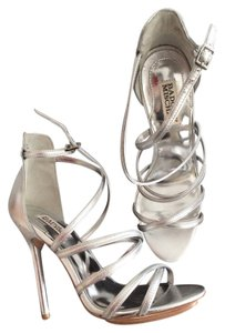 Badgley Mischka Stiletto Sandal Silver Sandals