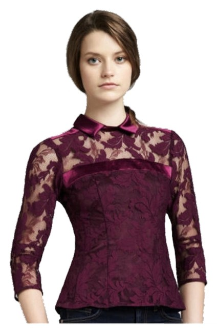 Preload https://item3.tradesy.com/images/nanette-lepore-mulberry-flaming-love-lace-blouse-size-4-s-1458467-0-0.jpg?width=400&height=650