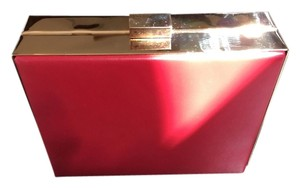 Saks Fifth Avenue Evening Night Out Gold Red Clutch