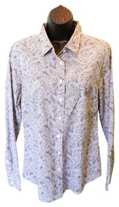 J.Crew Paisley Classic-collar Button Down Shirt Gray