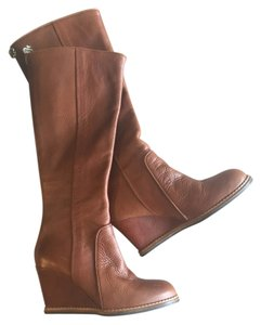 Kate Spade Leather Chestnut Boots