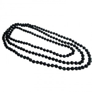 Black Fancy Fashionable Long Chain Multifaceted Long Necklace Jewelry Set