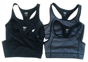 Old Navy NWT Lot X 4 Old Navy Active Sport Bras Size XS Black Gray