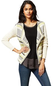 Anthropologie Moth Striped Metallic Thread Cardigan