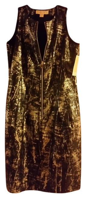 Item - Black and Silver No Mid-length Night Out Dress Size 4 (S)