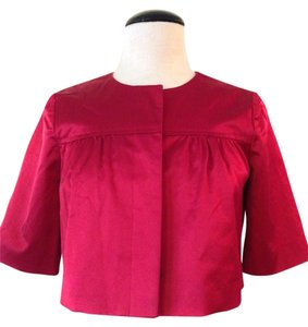 Theory Theory Red Cropped Tux Bolero/Shrug