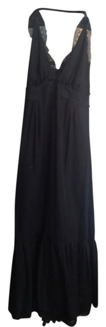 Item - Black Great Lengths Halter Long Casual Maxi Dress Size 4 (S)