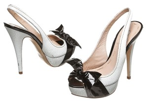 Miu Miu White and Black Pumps
