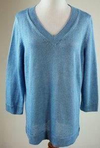 Talbots Linen V Neck Sweater