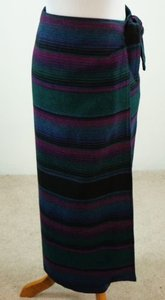 Other Woolrich Woman Wrap Blanket Southwestern Striped Skirt Multi-Color