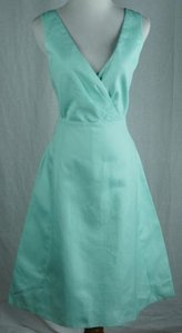 J.Crew Serena Cotton Cady Fresh Mint No Sash Dress