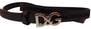 Dolce&Gabbana Dolce And Gabbana Skinny Belt 80 cm/32 inches in black