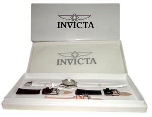 Invicta NIB -INVICTA ANGEL Woman's Wristwatch w/ 3 Extra Bands Model #14084 Gift Set