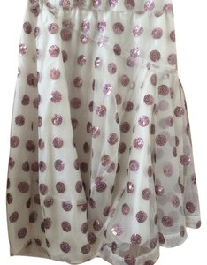 Marc Jacobs Polka Dot Sequin Skirt White and Purple