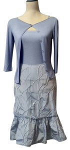 Emporio Armani Emporio Armani halter top, 3/4 sleeve sweater, textured and sequined skirt