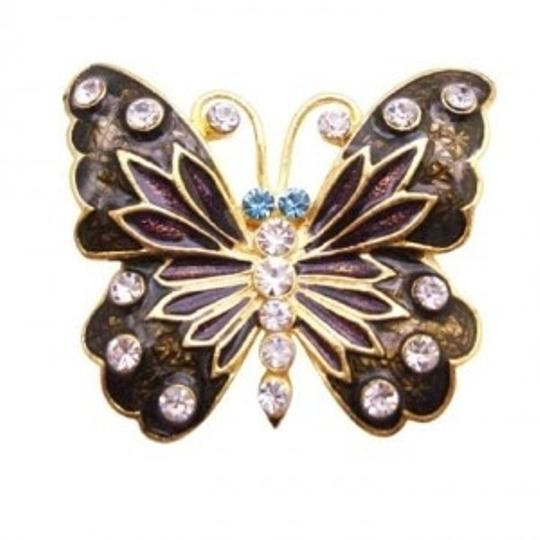 Preload https://item1.tradesy.com/images/golden-brown-decorative-stylish-pretty-enamel-butterfly-holiday-gift-broochpin-145870-0-0.jpg?width=440&height=440