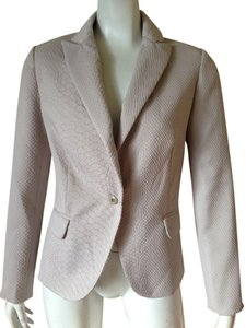 Cynthia Rowley Cynthia Rowley Embossed Print One Button Suit Blazer