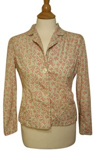 Anthropologie Odille Floral Pink Spring Jacket Button Down Shirt Multi-color