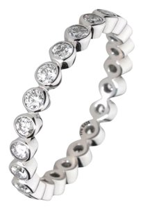Other New Round Brilliant Cut AAA CZ & .925 Sterling Silver Eternity/Anniversary Band 6, 7
