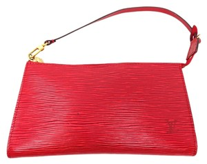 Louis Vuitton Epi Clutches Satchel in Red