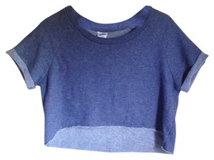 BDG Crop T Shirt Navy Blue
