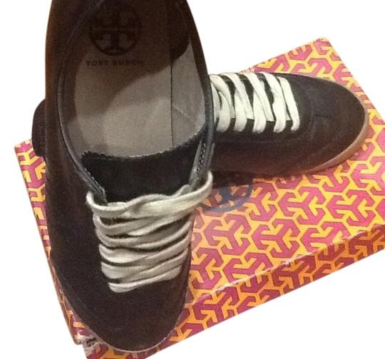 Tory Burch Leather Sneakers Black Athletic