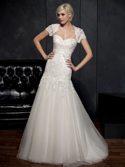 Private Label by G White Lace/Tulle 1531/Kw`1 Traditional Bridesmaid/Mob Dress Size 16 (XL, Plus 0x)