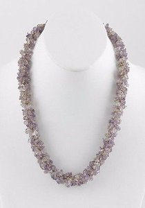 Amethyst 20.5 Purple Multiple Amethyst Chip Necklace Bj13