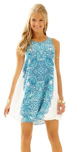 Lilly Pulitzer short dress white and torquoise on Tradesy