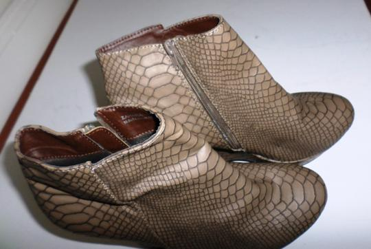 City Snappers Taupe Wedges Image 1
