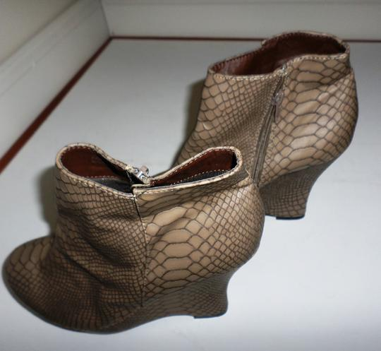 City Snappers Taupe Wedges Image 3