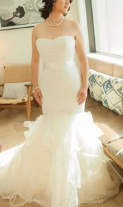 Vera Wang Ivory Lace 120313 Dress Size 8 (M)
