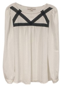Ann Taylor LOFT Top Black, White