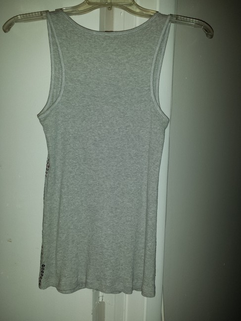 Other Front All Comfy Top Silver sequins on cotton tank top
