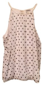 Express Top White and black polka dot