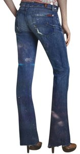 7 For All Mankind Rocker Distressed Boot Cut Jeans