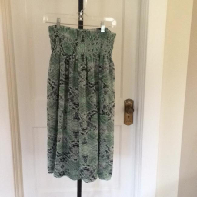 CAbi Maxi Skirt Mint and Navy on Ivory Image 1