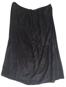 Calypso St. Barth short dress Navy Blue Strapless Sequin Silk on Tradesy