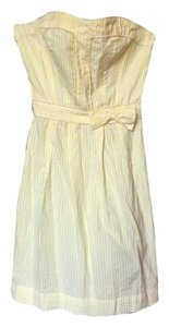 Tommy Hilfiger short dress yellow Strapless on Tradesy