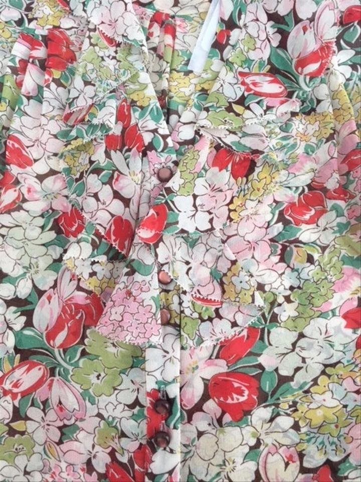 Odille redgreenwhitepeach floral silk with flowers blouse size odille redgreenwhitepeach floral silk with flowers blouse mightylinksfo