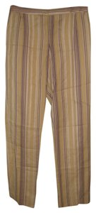 bern and mort Striped Straight Pants beige with purple and pink