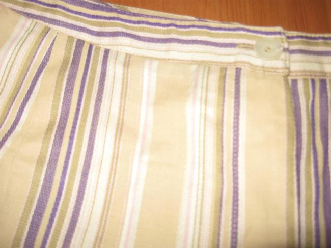 bern and mort Striped Straight Pants beige with purple and pink Image 3