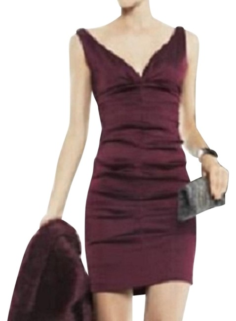Preload https://img-static.tradesy.com/item/14591785/xscape-dark-purple-ruched-evening-above-knee-cocktail-dress-size-4-s-0-5-650-650.jpg