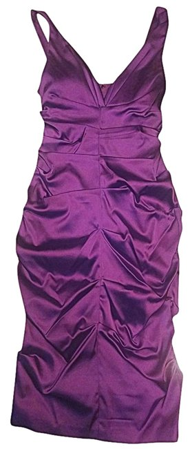 Xscape Ruched Statin Pencil Dress Image 1