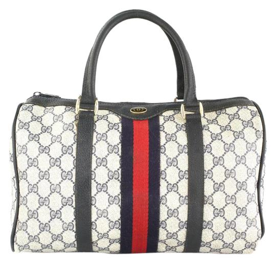 Preload https://item5.tradesy.com/images/gucci-boston-web-navy-canvas-satchel-14591839-0-4.jpg?width=440&height=440