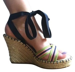 Juicy Couture Strappy Multi colored Wedges