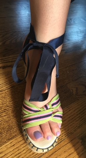 Juicy Couture Strappy Multi colored Wedges Image 1