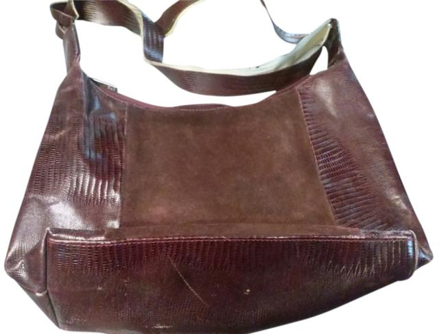 Item - Made In Italy Burgundy Leather Hobo Bag